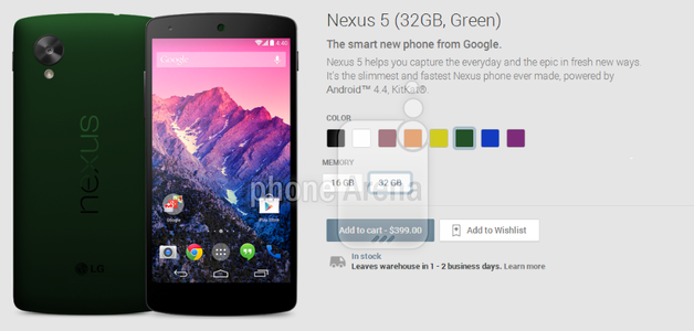 Google Nexus 5 - zielony