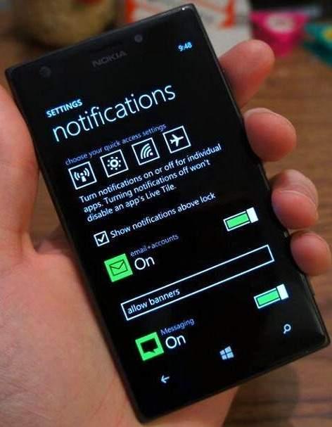 Centrum powiadomień w Windows Phone 8.1