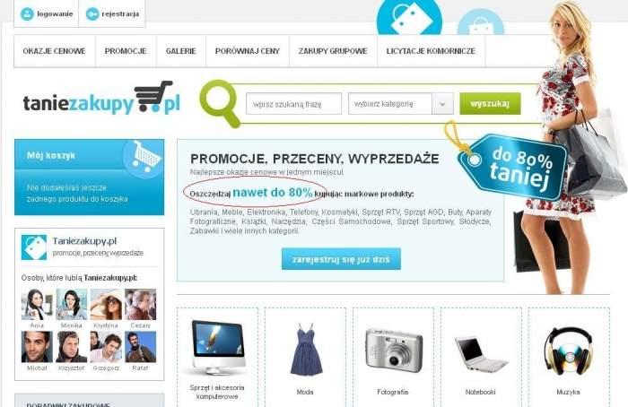 Strona główna serwisu taniezakupy.pl