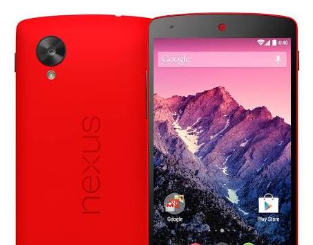 LG Nexus 5 od Google w czerwonym kolorze. Akurat na na walentynki
