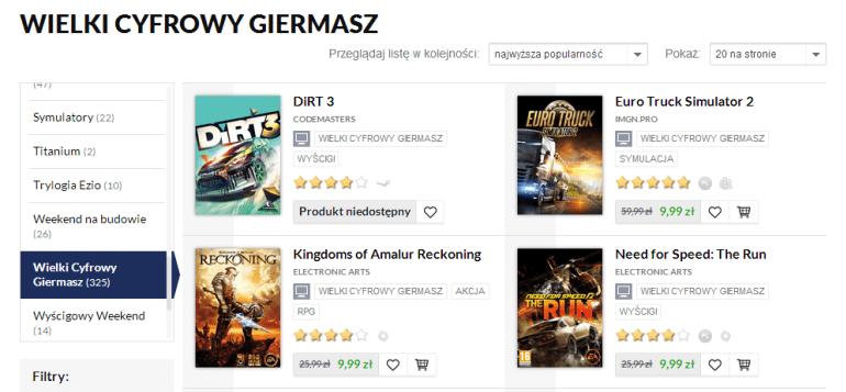 Trwa Wielki Cyfrowy Giermasz w CDP.pl. Ponad 300 gier, filmów i książek za 9,99 zł