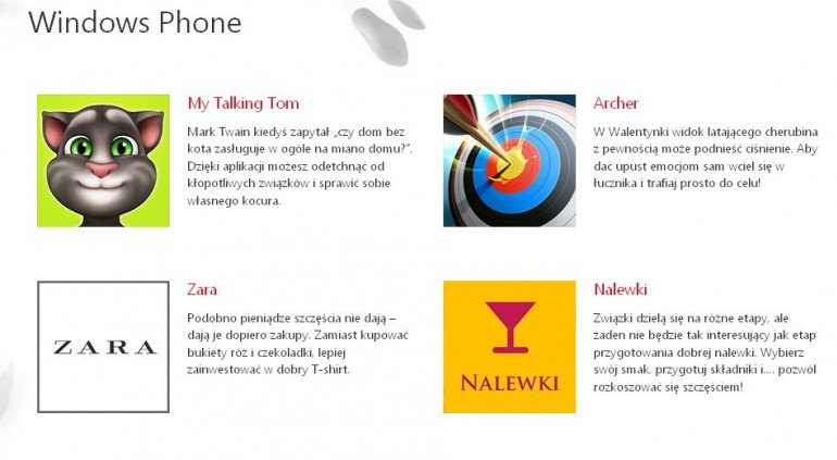 Windows Phone, Windows 8 i 8.1 - Walentynkowe i Antywalentynkowe aplikacje Microsoftu