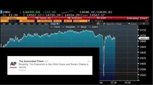 Cyberprzestępcom udało się włamać do agencji The Associated Press i rozprzestrzenić fałszywe doniesienie o wydarzeniach, które nie miały miejsca. W ten sposób doprowadzili do nagłego załamania się rynku akcji na światowych giełdach.