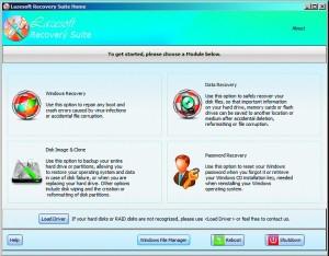 Po uruchomieniu systemu z płyty ratunkowej wybierz żądany moduł. Klonowanie dysków (Disk Image & Clone) i odzyskiwanie danych (Data Recovery) są dostępne także z poziomu pakietu zainstalowanego w środowisku Windows.
