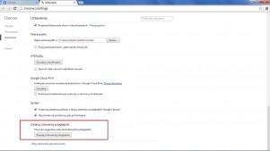 Aby odtworzyć fabryczny stan przeglądarki Google Chrome, wystarczy nacisnąć ten przycisk.