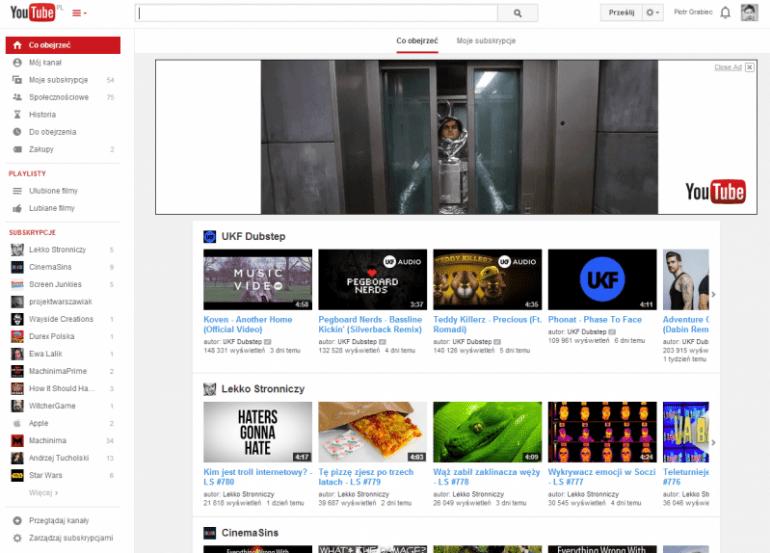 Google w końcu odświeża stronę główną serwisu YouTube
