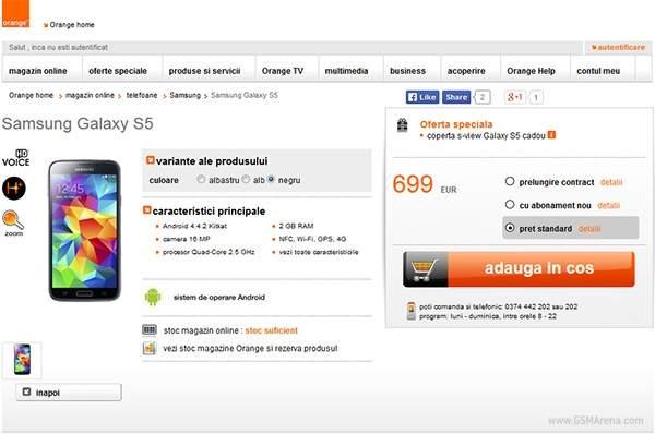 Galaxy S5 w ofercie Orange Romania