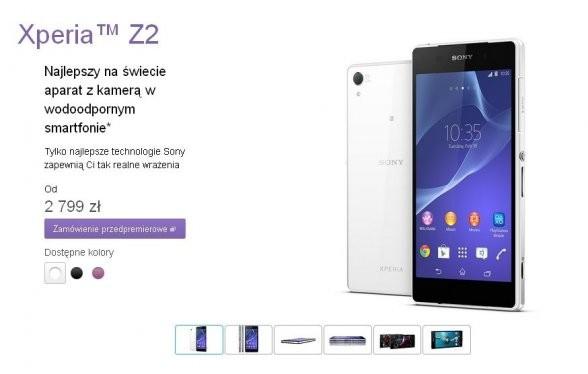 Sony Xperia Z2 już w przedsprzedaży. W zestawie będzie opaska SmartBand