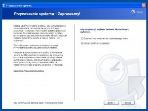 Przywracanie systemu to funkcja wprowadzona w Windows Me, ale dopracowana tak naprawdę dopiero w XP.