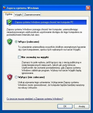 Zapora systemu Windows (czyli Windows Firewall) – jedna z najważniejszych nowości wprowadzonych w Service Packu 2 do Windows XP