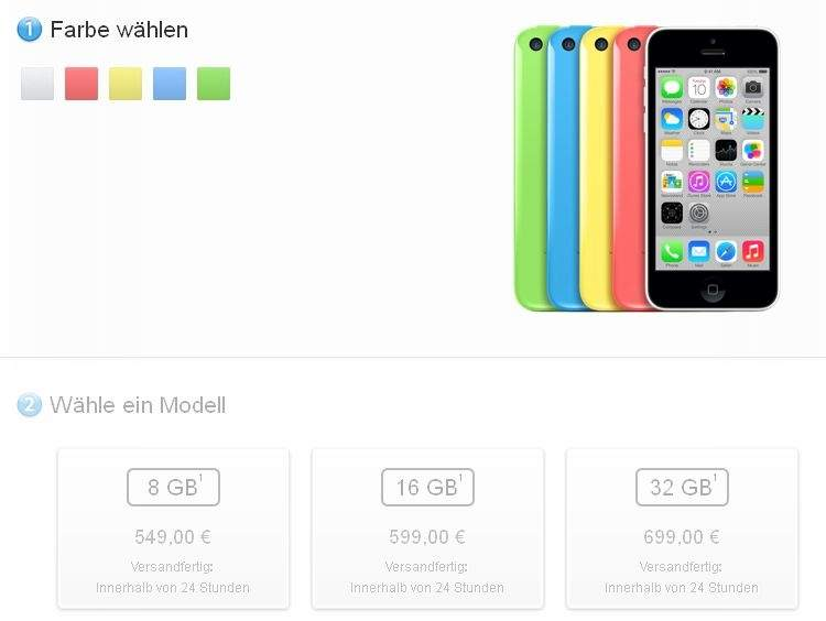 Apple iPhone 5C w wersji 8 GB jest już dostępny