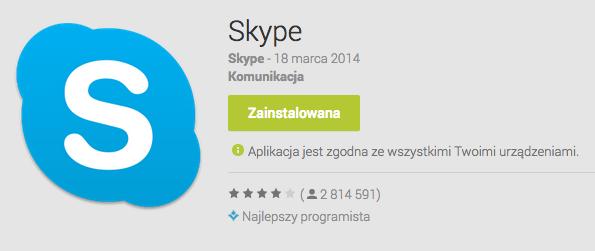 Skype na Androida zaktualizowany. Ma zużywać znacznie mniej energii