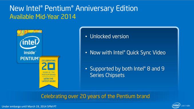 Procesor Intel Haswell z odblokowanym mnożnikiem na jubileusz marki Pentium