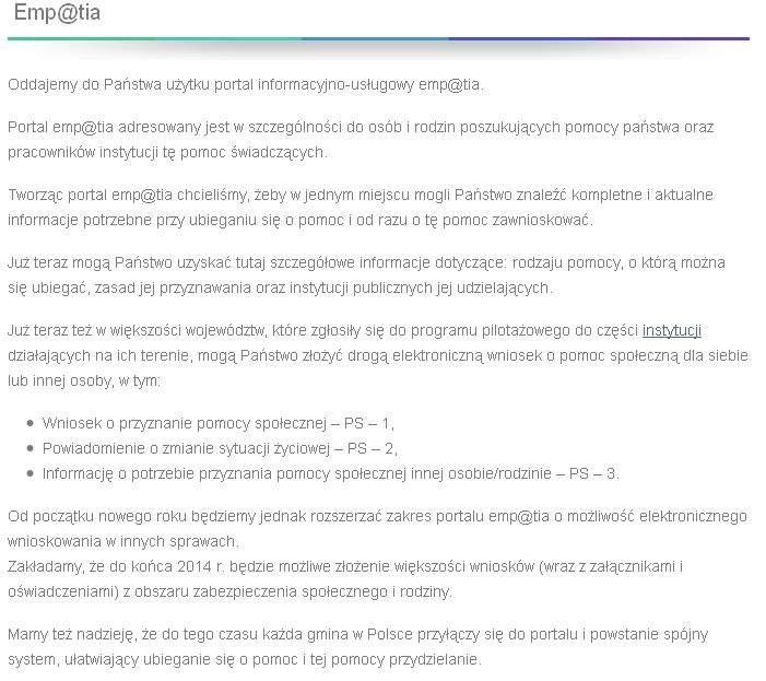 Portal Emp@tia kosztował aż 49 mln. złotych.