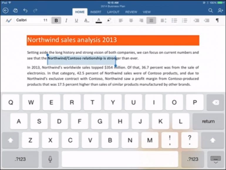 Microsoft Office dla tabletów iPad od Apple oficjalnie zaprezentowany