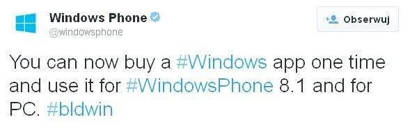 Windows Phone 8.1, Windows 8.1 - aplikację kupujesz raz. Windows dla małych urządzeń za darmo!