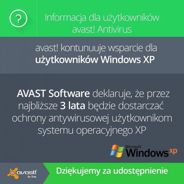 Avast dla Windows XP jeszcze przez 3 lata