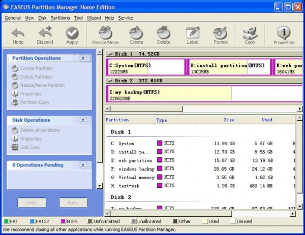 EASEUS Partition Master Home Edition