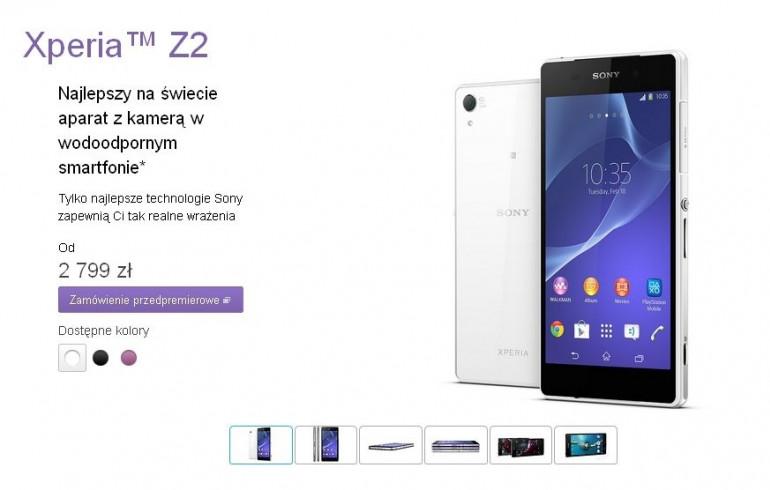 Sony Xperia Z2 zadebiutuje w Polsce bez opóźnień