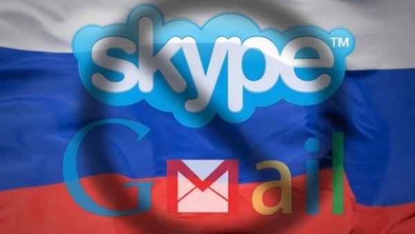 Rząd Rosji chce kontroli nad Skype'm, Gmailem i FB