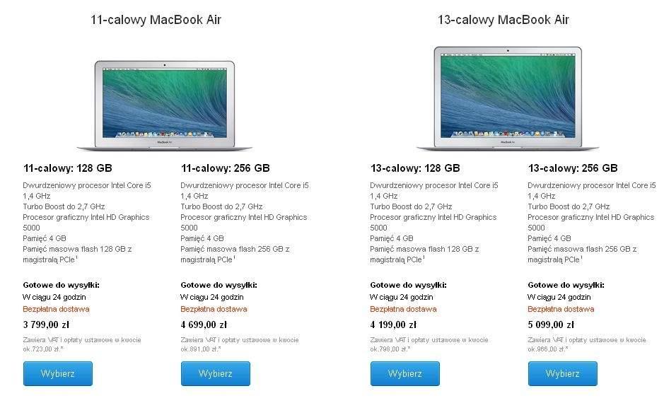 MacBook Air w sklepie Apple Store