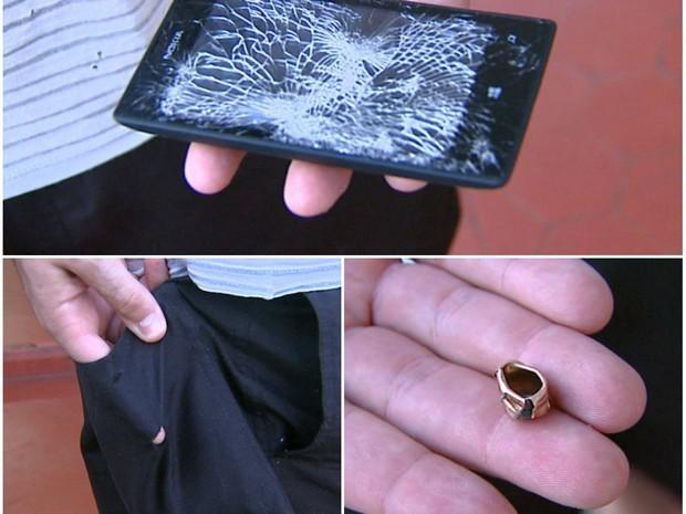 Zniszczona Nokia Lumia 520 (źródło: globo.com)