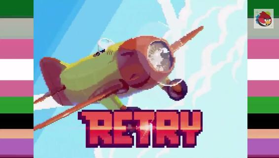 Retry, czyli mieszanka Angry Birds od Rovio z Flappy Bird