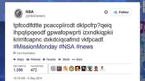 Tweet od NSA