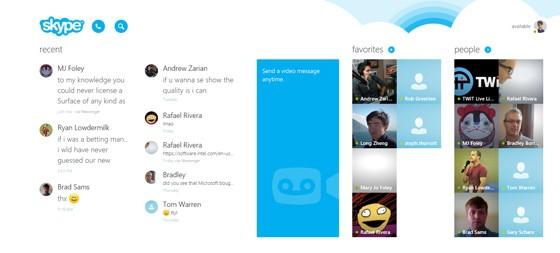 Aplikacja Skype Modern dla Windows 8.1 z lepszą obsługą myszy i klawiatury