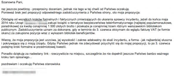 Urzędniczka przez pomyłkę ujawniła adresy e-mailowe petentów