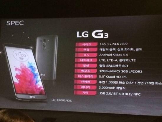 LG G3 - specyfikacja