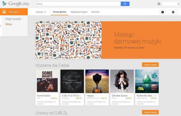 Google Play Muzyka dostępne w Polsce