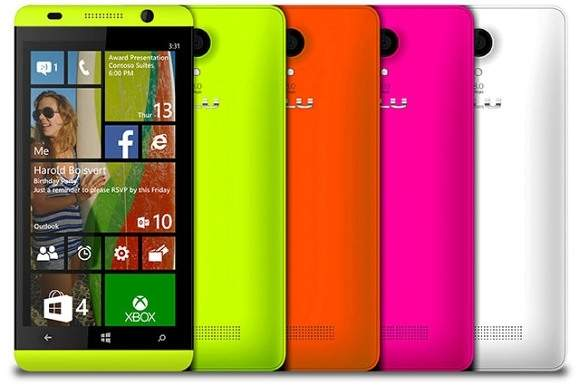 Smartfon BLU z Windows Phone 8.1