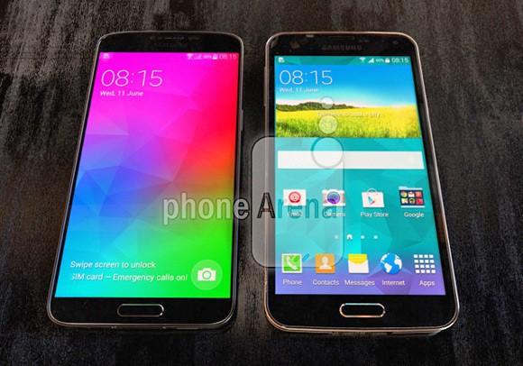 Samsung Galaxy F (S5 Prime) na zdjęciu z Galaxy S5