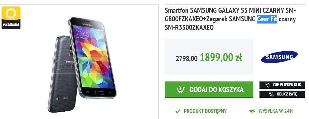 Galaxy S5 mini z Gear Fit