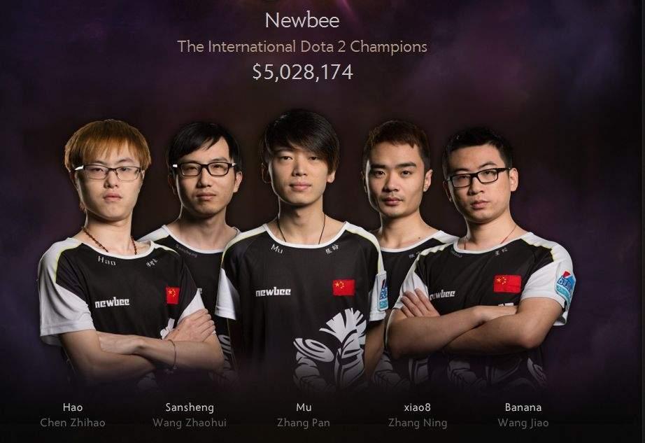 Zwycięzca e-sportowego turnieju: drużyna NewBee