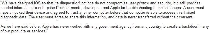 Oświadczenie Apple