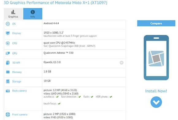 Poznaliśmy specyfikację techniczną smartfona Motorola Moto X+1