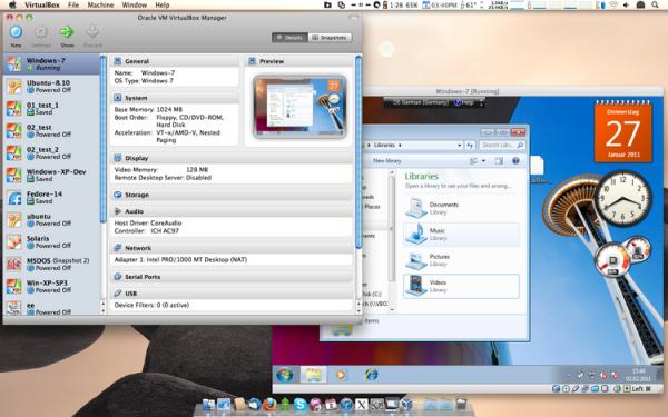Windows 7 działający na Mac OS X