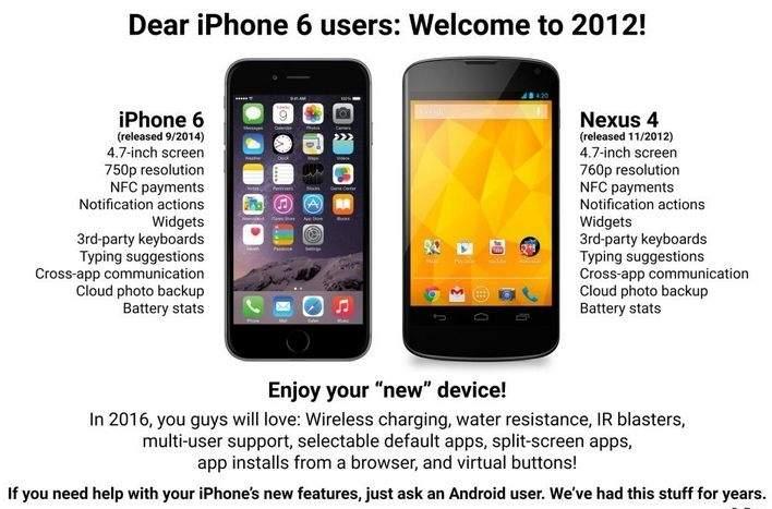 Apple iPhone 6 kontra Nexus 4