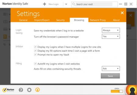 W ustawieniach Norton Identity Safe określisz, czy program ma automatycznie zapamiętywać poświadczenia wprowadzane przez ciebie na stronach internetowych.