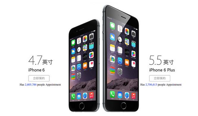 iPhone 6 i iPhone 6 Plus w Chinach bije kolejne rekordy zamówień przed premierą