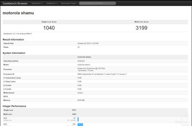 Motorola Nexus X Shamu pojawiła się w pierwszych benchmarkach