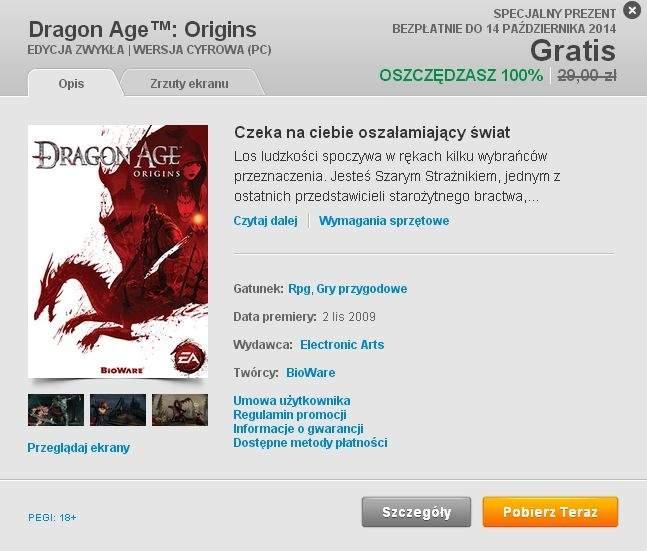Dragon Age: Początek - pobierz za darmo