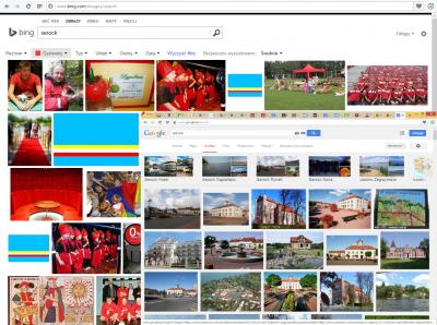 Filtry grafiki w Bing są zawsze pod ręką, w Google zostały ukryte