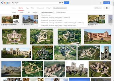 : Google – wygodne wyszukiwanie zdjęć z określoną licencją