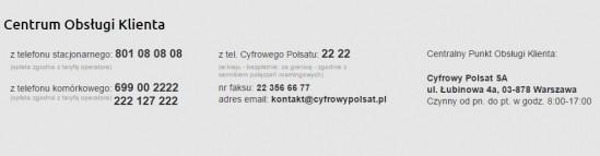 Centrum Obsługi Klienta Cyfrowego Polsatu Fot. strona internetowa Cyfrowy Polsat