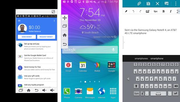Samsung Galaxy Note 4 ma znacznie więcej trybów usprawniających obsługę phabletuz wykorzystaniem tylko jednej dłoni