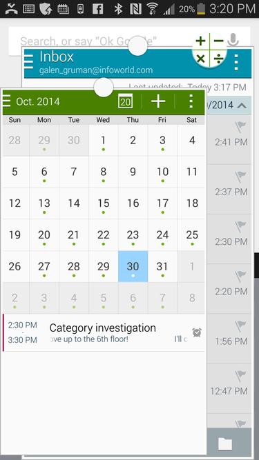 Tryb pracy w oknach na Samsungu Galaxy Note 4 w praktyce nie jest zbytnio użyteczny