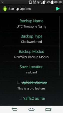 Aplikacja Nandroid potrafi utworzyć zapasową kopię całej zawartości pamięci w zrootowanym smartfonie.